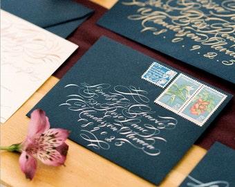 Envelope Calligraphy Addressing  Handwritten modern wedding
