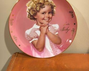 "Shirley Temple signature plate ""Precious"""