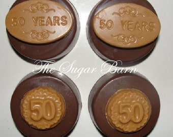 50 YEARS Chocolate Covered Oreo® Cookies*12 Count*50th Birthday*Golden Anniversary*Wedding*Party Favor*Fifty Years*Candy