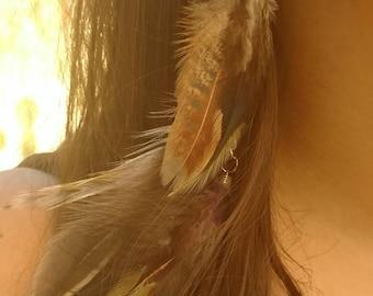 Long Dangle Feather Earrings
