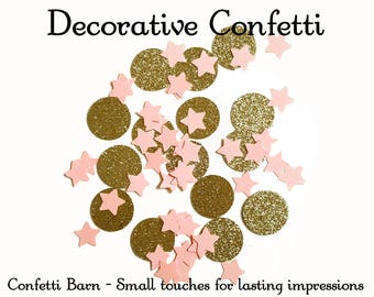 Stars & Circles Decorative Party Confetti - Birthday Parties - Unicorn Party - Princess Party - Party Table Embellishment - Party Decor #109