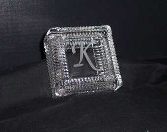 Groomsmen Gift, Glass Box, Engraved box, Personalized Glass Box, Jewelry Box, Keepsake Box, Jewelry Holder, 2 Pieces