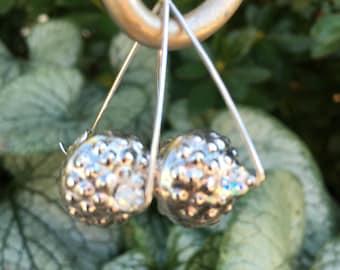 EarAngles: Sterling Silver, Hilltribe Silver, Swarovski Crystal