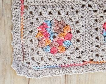 Crocheted Baby Blanket, nursery blanket, travel blanket, baby shower gift, crochet afghan, baby afghan