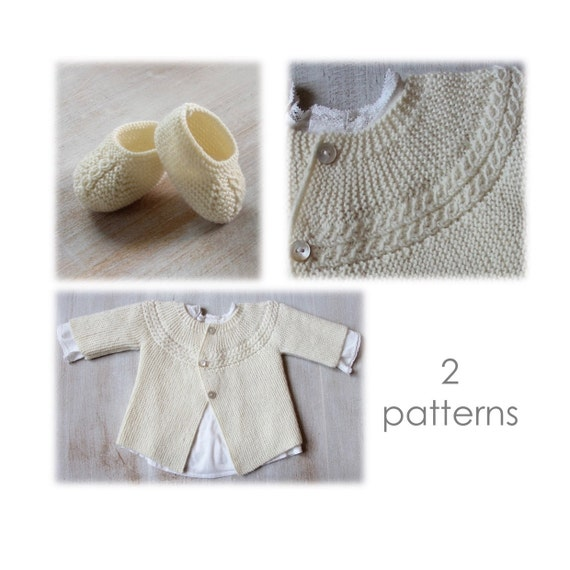 30 / Baby Set / Knitting Instructions in English / PDF Instant Download / 3 Sizes : Newborn / 3 months / 6 months