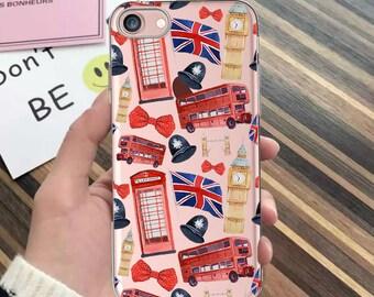 iPhone 7 case,iPhone 7 Plus,iPhone 8 case,phone booth,Phone SE case,LONDON,iPhone 5s,iPhone 6s,iPhone 6 Plus,clear,iPhone 8 Plus case,bus