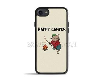 Cute iPhone 8 Cases Happy Camper iPhone 7 Case Hipster Lumberjack Cat Hipster Phone case Cute iPhone 6s Plus Case