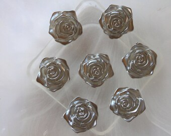 resin cabochon flower silver scrapbooking