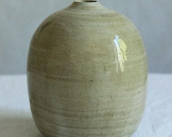 Marbled ceramic bubble vase, oval ceramic bud vase, large bud vase, marbled pottery, simple ceramic vase, single stem vase