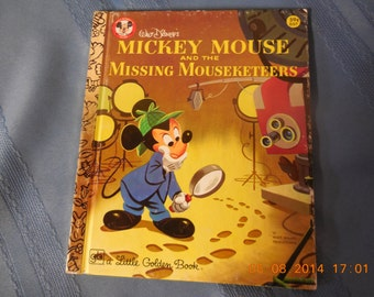 Mickey Mouse and the Missing Mouseketeers, A Little Golden Book.