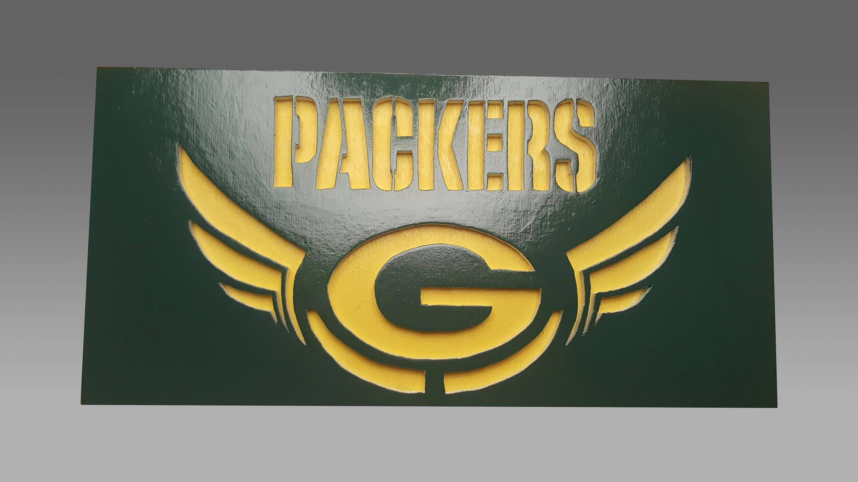 Green Bay Packers Scroll Saw Art Wall Art Wall Decor