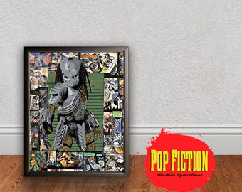 Predator Original Artwork Canvas & Prints. Comics, Book, Collectible. Digital Mix-Media Art. Pop Culture