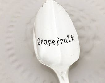 grapefruit spoon, vintage hand stamped spoon classic