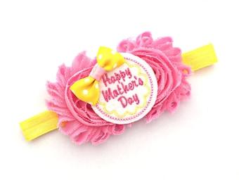 Mother's Day Bow, Mother's Day Baby, Mother Day Hair Bow, Mother Day Headband,  Happy Mothers Day, Mommy Bow, Mommy Hair Bow, Mommy Headband