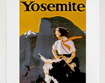 Art Yosemite Poster Vintage National Parks Travel Print Wall Decor (ZT421)