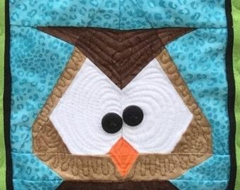 Owl Paper Pieced Block in PDF