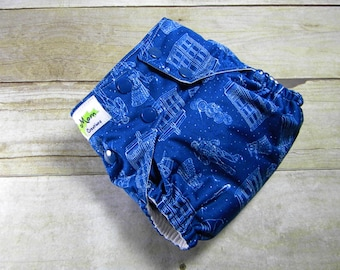 Police Box OS Ai2 w/ Bamboo Insert Cloth Diaper All in Two