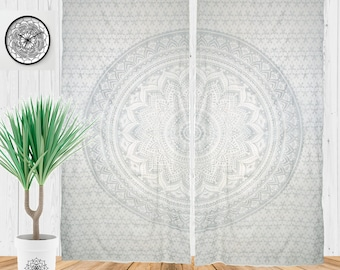 Bohemian Curtains, Hippie Curtain, Boho Window Treatment, Mandala Dorm  Decor, Gypsy Tapestry