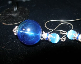 Boucles d'oreilles - chantons le Blues--etsyBead, OlympiaEtsy, GTGEU, paganteam, FunkyAlternativeJewelry, SupportingArtists