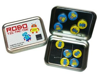 ROBOT Magnetic Tic-Tac-Toe Travel Playset - Free Shipping! Portable Tic-Tac-Toe