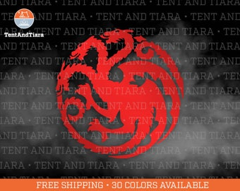 House Targaryen Sigil - Game of Thrones Jon Snow Vinyl Decal Car Decal Laptop Decal Yeti Decal Water Bottle Decal Gift for Friend