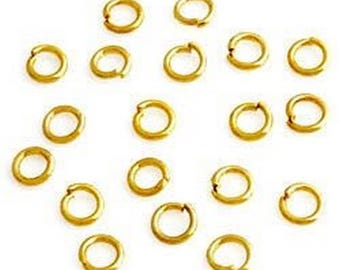 50 rings 4 mm Golden METAL for jewelry making