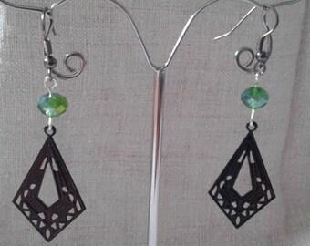 """chiseled Black Diamond"" earrings"