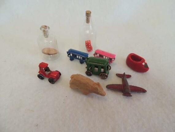 VINTAGE MINIATURES COLLECTION... 9 Pieces.. Decorative, Crafts, Assemblages Etc.