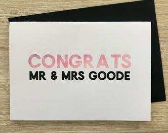 CONGRATS Mr&Mrs Card