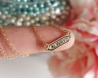 Always Necklace - Always Jewelry - Bar Jewelry - Bar Necklace - Gold Chain - Silver Chain - Tiny Bar - Minimalist Jewelry - Gift for her