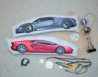 Pillow with pattern Supercars