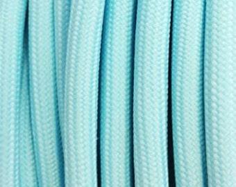 Pastel blue textile cable 2 strands - 0.75 mm 2