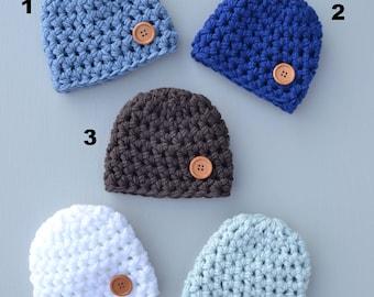 Hat Beanie Newborn Baby Photography Prop Crochet Baby Boy Hat, Newborn Boy Hat, Baby Boy Hat, Baby Hat, Baby Boy Beanie, Baby Boy Prop Hat
