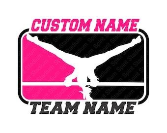 Custom Gymnastics T-Shirt - You Choose Colors - Personalize Your Team or School Spirit Shirt