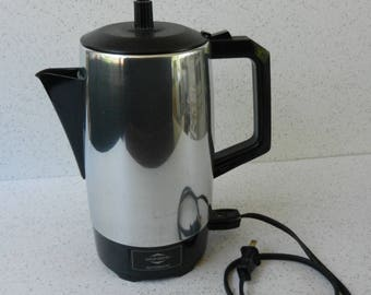 Working West Bend Automatic Electric Percolator, Coffee Maker, Coffee Pot, 9 Cup
