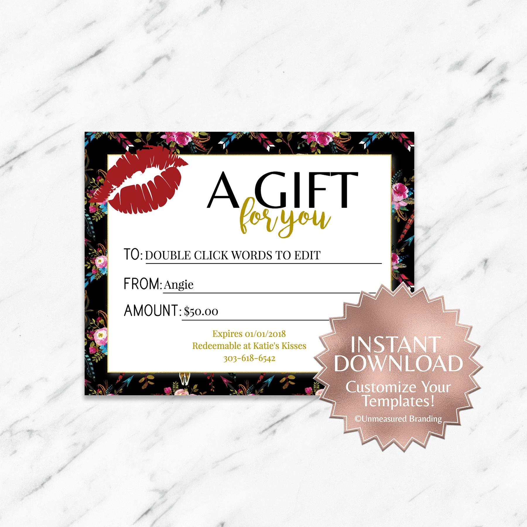 makeup gift certificate template - Ecza.solinf.co