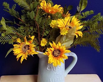 "ESE Sunflower & Blossom Spray Pick, 17""H"