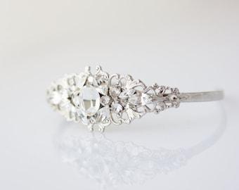 Wedding Bracelet Crystal Cuff Bracelet  Bridal Jewelry Bridesmaid Cuff  Bride Gift Wedding Jewelry BRIELLE