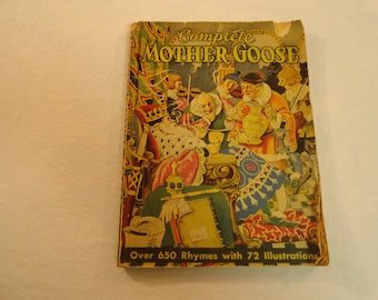 1932 Whitman Publishing Complete Mother Goose Over 650 Rymes With 72 Illustrations