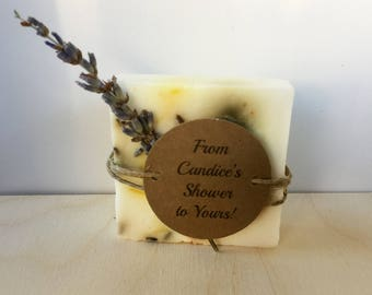 10 Soap favors - From my shower to yours, baby/bridal shower gifts for guests - Lavender scented