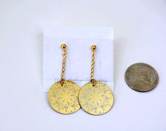 Gold Aluminum Earrings