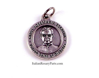 Saint Josemaria Escriva Healing Saint Medal Patron Saint of Diabetics Diabetes | Italian Rosary Parts