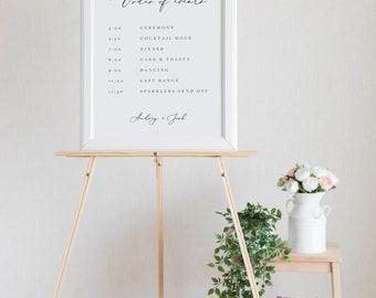 Wedding Order Of Events Template Wedding Order Of The Day Sign Printable Order of Events Sign Wedding Timeline Sign Itinerary Elegant