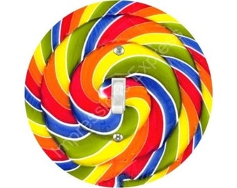 Giant Lollipop Single Toggle Switch Plate Cover