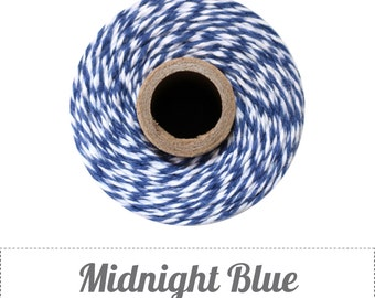 240 Yards (Full Spool) of Bakers Twine . Midnight Blue