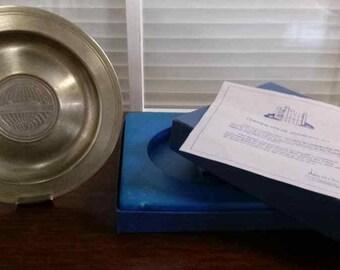 Cunard Princess Commemorative Metal Dish