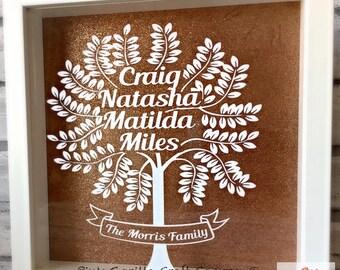 Family Tree, Personalised Family Frame, Wedding Gift, New home Gift, Family Tree Frame