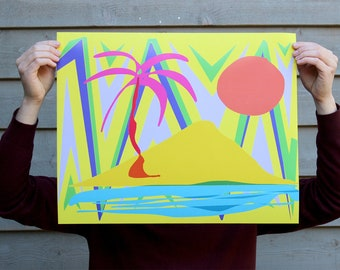 Tropical Sunrise Art Poster