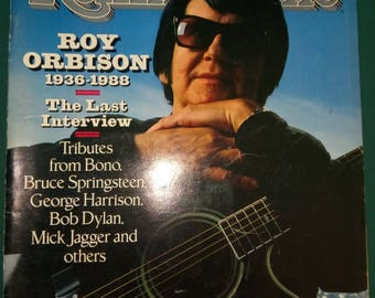 Rolling Stone #544 January 26 1989RoyOrbison1936-1988Featuring the interview.Tributesfrom,Bono,Springsteen,Dylan,Jagger &others
