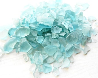 Glass Crystal Frost Sea Beach Raw Glass Aqua Blue Aquamarine Tumbled Stained Nuggets Shale Decorative Stones Mosaic Art Wedding Tiles Pebble
